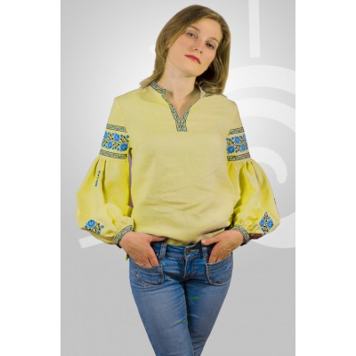"Boho Style Ukrainian Embroidered Folk  Blouse ""Sun"" 6"