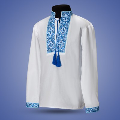 "Embroidered shirt for boy ""Snowy Morning"""