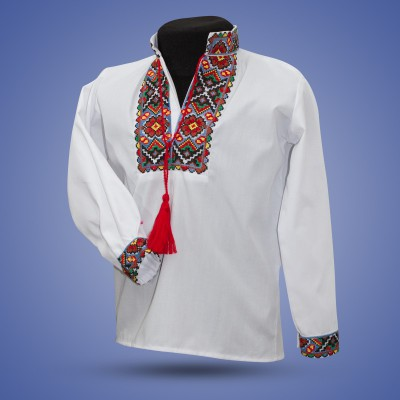 "Embroidered shirt for boy ""Mosaic"""
