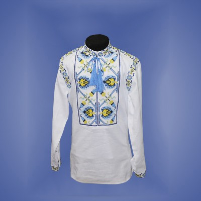 "Embroidered shirt for boy ""Fantastic Flower"" 2"