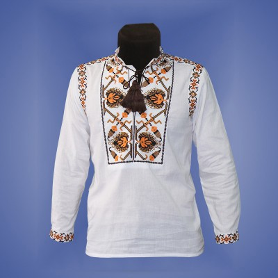 "Embroidered shirt for boy ""Fantastic Flower"" 4"