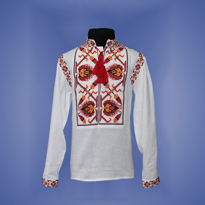 "Embroidered shirt for boy ""Fantastic Flower"" 5"