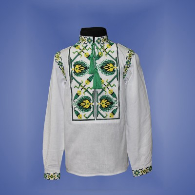 "Embroidered shirt for boy ""Fantastic Flower"" 6"
