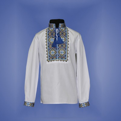 "Embroidered shirt for boy ""Parubok"" blue"
