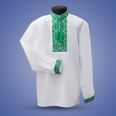 "Embroidered shirt for boy ""Frost Morning"""