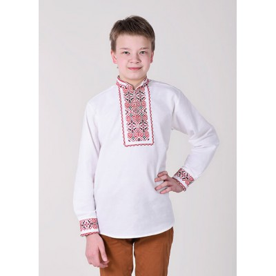 "Embroidered shirt for boy ""Eagle"" red"
