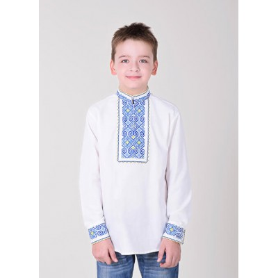 "Embroidered shirt for boy ""Eagle"" blue"