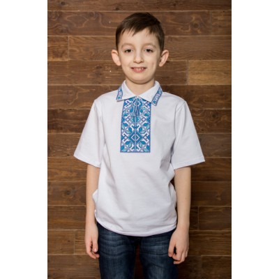 "Embroidered t-shirt with short sleeves ""Podilla"" blue"
