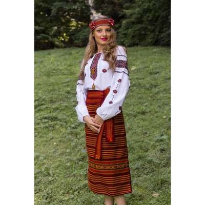 Traditional Skirt (Plakhta) Orange