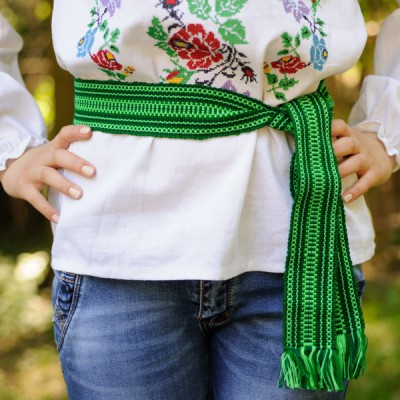 Traditional Belt (Krayka) Green