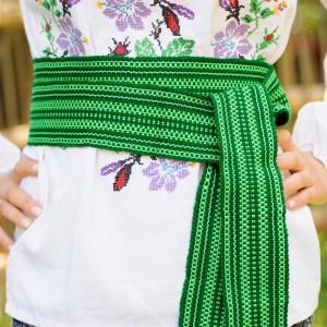 Traditional Belt (Krayka) Green for adult
