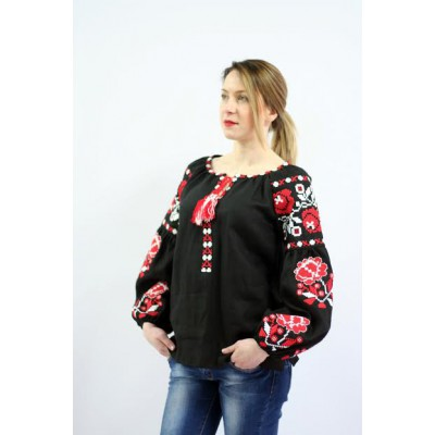 "Embroidered blouse ""Charm"" red"