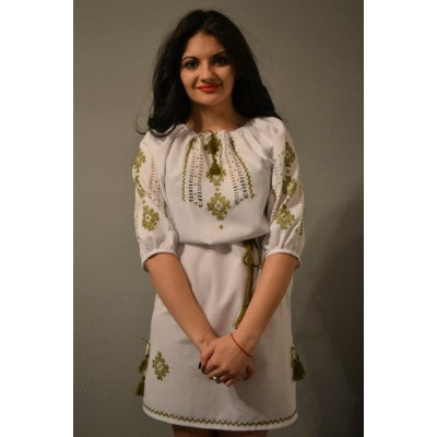 "Embroidered dress ""Golden Leaves"""
