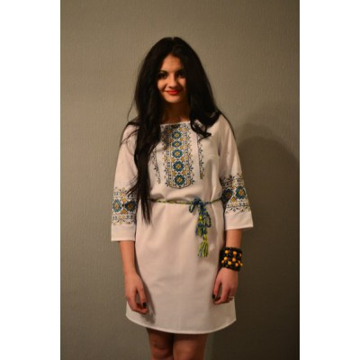 "Embroidered dress ""Freedom Fighter"""