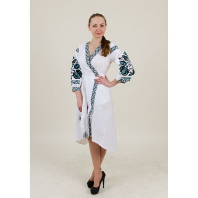 "Embroidered Wrap Around Dress ""Life Tree"""