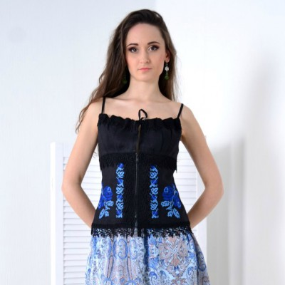 Embroidered corset #12