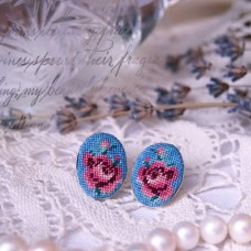 "Earrings ""Turquoise Rose"""