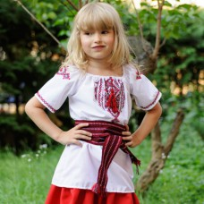 "Embroidered blouse for little girl ""Poltava Summer"""