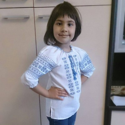 "Embroidered blouse for little girl ""Traditions"""