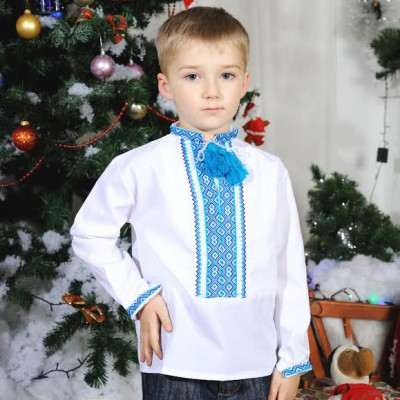 "Embroidered shirt for little boy ""Zoryan"""