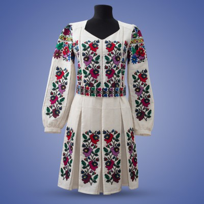 "Embroidered dress ""Malves"""