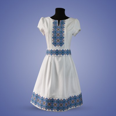 "Embroidered dress ""Odarka Light"" blue"