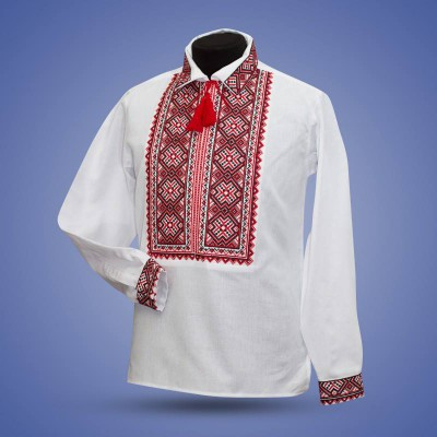 "Embroidered shirt ""Cossac"" red"