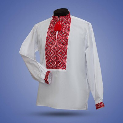 "Embroidered shirt ""Gentleman"" red"