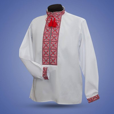 "Embroidered shirt ""Yarilo"" red"