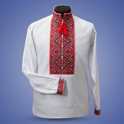 "Embroidered shirt ""Big Rhombs 1"""