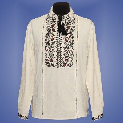 "Embroidered shirt ""Flower Ornament"""