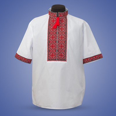 "Embroidered shirt ""Summer in Red"""