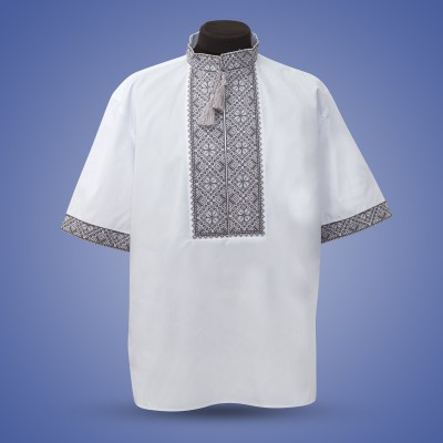 "Embroidered shirt ""Summer in Gray"""