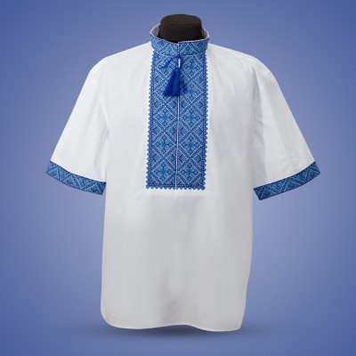 "Embroidered shirt ""Summer in Blue"""