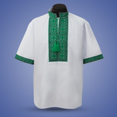 "Embroidered shirt ""Summer in Green"""