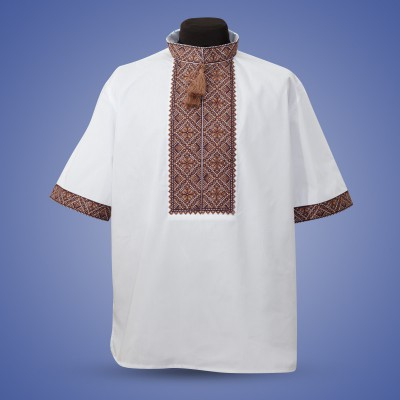"Embroidered shirt ""Summer in Brown"""