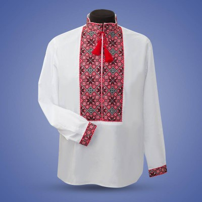"Embroidered shirt ""Classic"" red&black"