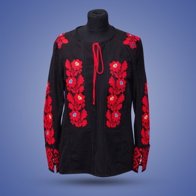 "Embroidered blouse ""Borshivka Red on Black"""