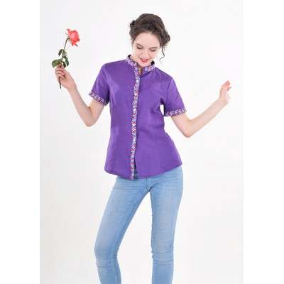 "Embroidered blouse ""Daisy"" Violet"