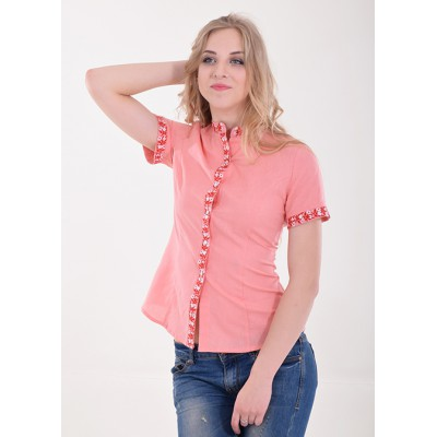 "Embroidered blouse ""Daisy"" Peach"