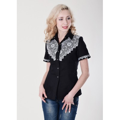 "Embroidered blouse ""Galychanka"" black"