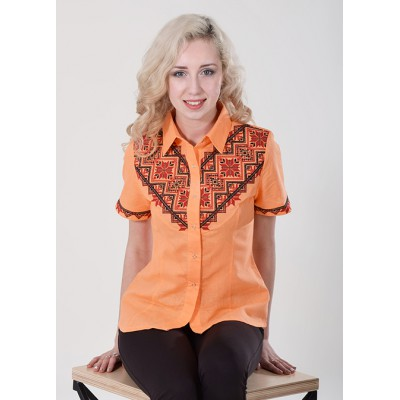 "Embroidered blouse ""Galychanka"" orange"