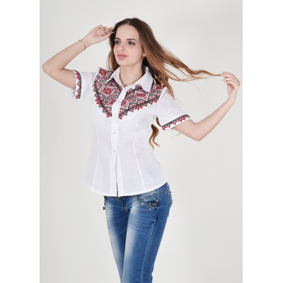 "Embroidered blouse ""Galychanka"" white/red"