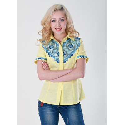 "Embroidered blouse ""Galychanka"" yellow"
