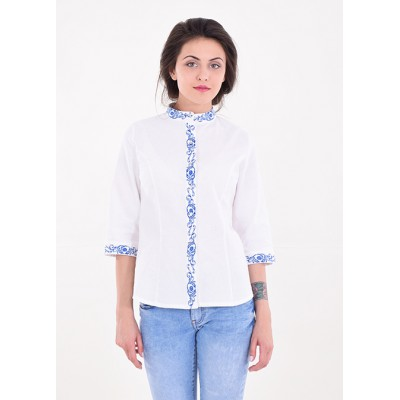 "Embroidered blouse ""Dream Plus"" white"
