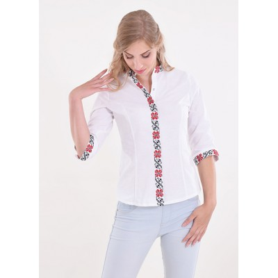 "Embroidered blouse ""Luck"" white"