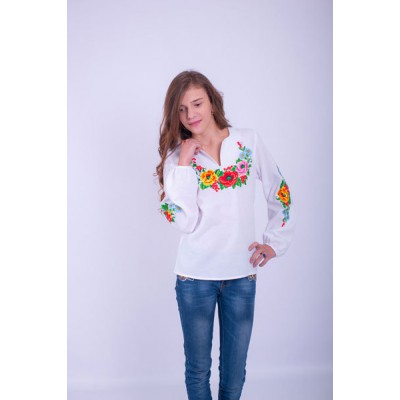 "Embroidered blouse for girl ""Caprice"""