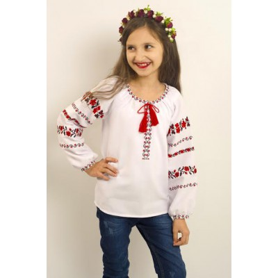 "Embroidered blouse for girl ""Way of Rose"""