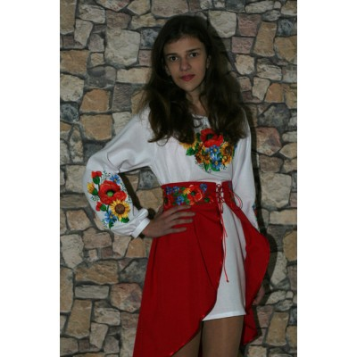 "Embroidered costume for girl ""Ukrainian Bouquet"" teenage"