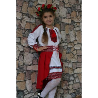 "Embroidered costume for girl ""Ukrainian Girl"""